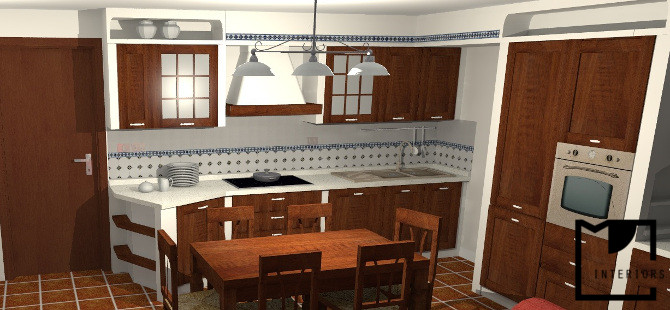 Progetto cucina in muratura for Arredo cucina rustica