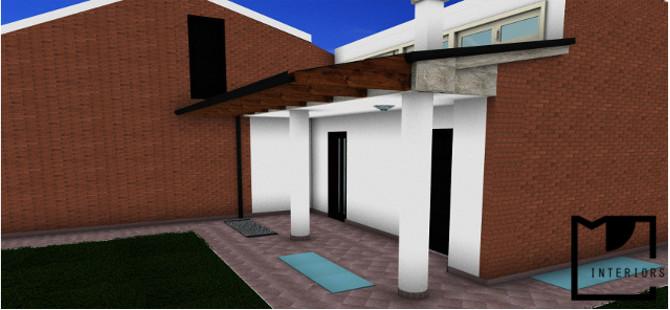 progetto portico