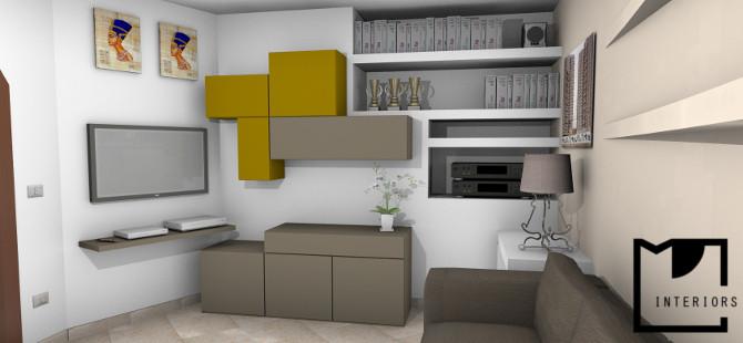 Obiettivo rinnovare completamente il soggiorno - Progettazione spazi interni ...