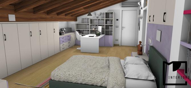 Divisione mansarda - Camera da letto sottotetto ...