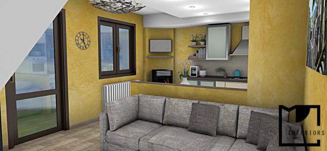 Ristrutturazione e riadattamento cucina for Muretto divisorio ingresso soggiorno