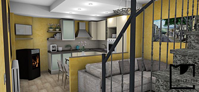 Muretto divisorio cucina ingresso perfect soggiorno - Muretto tra cucina e soggiorno ...