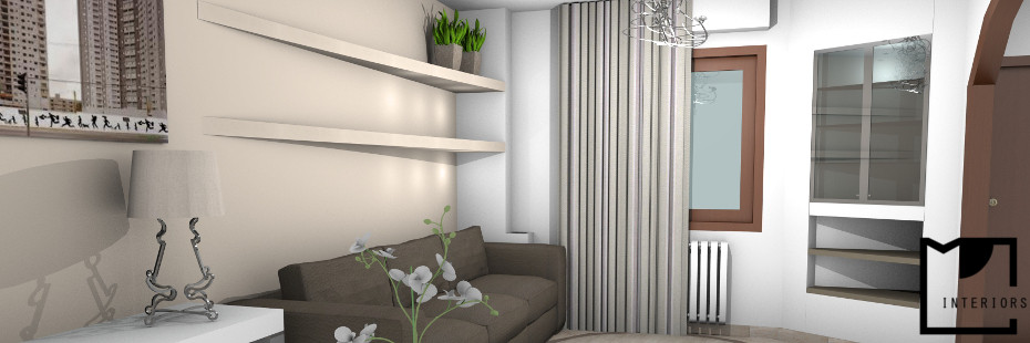 Progettazione di interni soggiorno